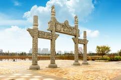 Arco tradizionale cinese Fotografie Stock Libere da Diritti