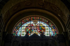 ARCO, TRENTINO/ITALY - MARCH 28 : Stained Glass Window in the Co Stock Photo