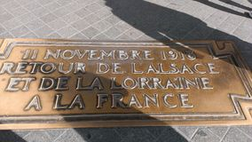 Arco Triomphe Parigi Parigi Immagine Stock Libera da Diritti