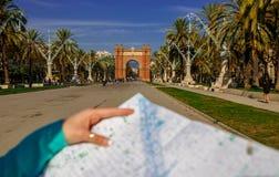 Arco trionfale Barcellona Fotografie Stock Libere da Diritti