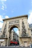 Arco trionfale di Porte St Denis Fotografia Stock Libera da Diritti