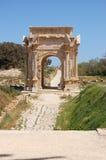 Arco trionfale, magnum di Leptis, Libia Fotografie Stock
