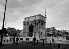 Arco trionfale a Marsiglia Immagini Stock Libere da Diritti