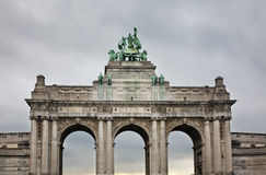 "Arco trionfale nel †""Jubelpark di Parc du Cinquantenaire bruxelles belgium Fotografia Stock"