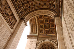 Arco trionfale a Parigi Immagine Stock Libera da Diritti