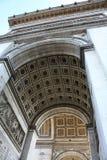 Arco trionfale Parigi Francia narrato fotografia stock