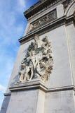 Arco trionfale Parigi Francia narrato immagine stock libera da diritti
