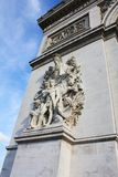 Arco trionfale Parigi Francia narrato immagine stock