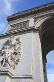 Arco trionfale Parigi Francia narrato fotografie stock
