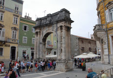 Arco trionfale in Pola Immagine Stock