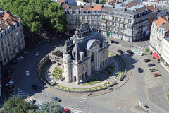 Arco trionfale Porte de Paris a Lille, Francia Fotografia Stock Libera da Diritti