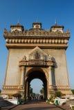 Arco trionfale a Vientiane Immagine Stock Libera da Diritti