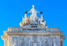 Arco Triunfal στη Λισσαβώνα, Πορτογαλία Στοκ Εικόνες