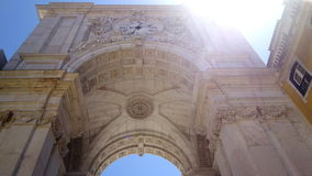 Arco Triunfal da Rua Augusta, Площадь del Comercio, Лиссабон Стоковая Фотография