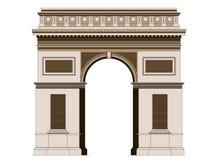 Arco triunfal de Arc de Triomphe en París, Francia 2 ilustración del vector