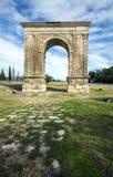 Arco triunfal de Bara em Tarragona, Espanha Fotografia de Stock