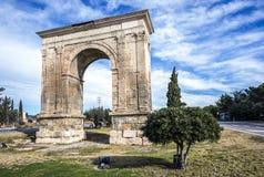 Arco triunfal de Bara em Tarragona, Espanha Fotografia de Stock Royalty Free