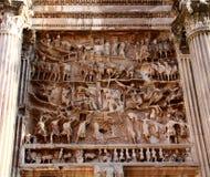 Arco triunfal de los detalles de Septimus Severus Foto de archivo