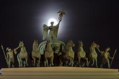 Arco triunfal del edificio del estado mayor general imágenes de archivo libres de regalías