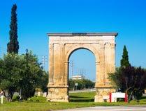 Arco triunfal el arco de Bera en Tarragona imagenes de archivo