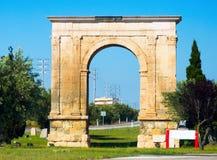 Arco triunfal el arco de Bera en Tarragona fotografía de archivo