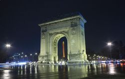 Arco triunfal em Bucareste Imagens de Stock Royalty Free