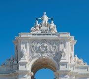 Arco triunfal em Lisboa imagem de stock