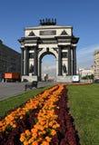 Arco triunfal em Moscou para comemorar a vitória sobre Napoleon imagem de stock royalty free