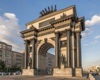 Arco triunfal em Moscovo Fotografia de Stock