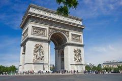 Arco triunfal em Paris Fotografia de Stock Royalty Free