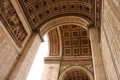 Arco triunfal em Paris Imagem de Stock Royalty Free