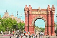 Arco triunfal en Barcelona imagen de archivo libre de regalías