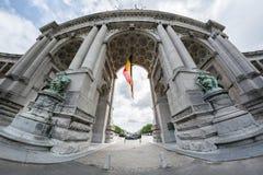 Arco triunfal en Bruselas Fotos de archivo libres de regalías