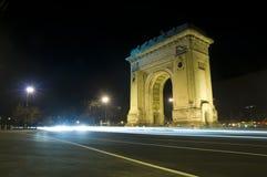 Arco triunfal en Bucarest Foto de archivo