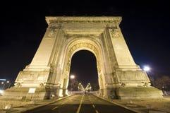 Arco triunfal en Bucarest Imágenes de archivo libres de regalías
