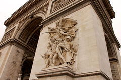 Arco triunfal en París Imagen de archivo libre de regalías