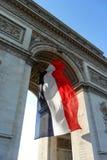 Arco triunfal en París Foto de archivo