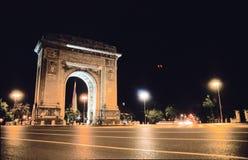 Arco triunfal en Rumania Imagen de archivo libre de regalías