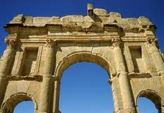Arco triunfal en Sufetula Fotografía de archivo libre de regalías
