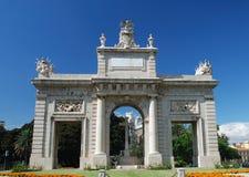 Arco triunfal en Valencia imagenes de archivo