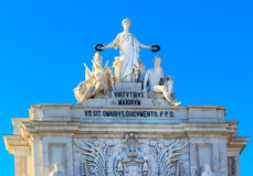 The Arco Triunfal in Lisbon, Portugal Stock Photo