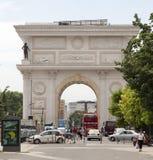 Arco triunfal no kopje, Macedônia Fotografia de Stock Royalty Free