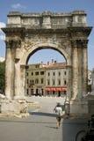 Arco triunfal romano Imagen de archivo