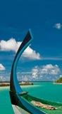 Arco variopinto di un dhoni tradizionale Fotografia Stock Libera da Diritti