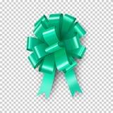 Arco verde claro con el elemento de la cinta ilustración del vector