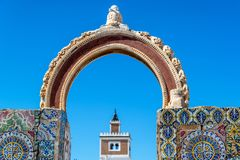 Arco viejo en Túnez, Túnez Imagen de archivo