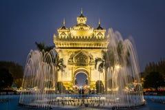 Arco Vientiane de Patuxai Imagens de Stock