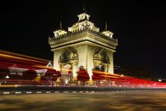 Arco Vientiane de Patuxai Imagem de Stock