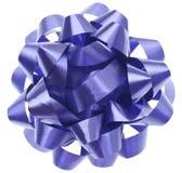 Arco viola vibrante del regalo Immagini Stock