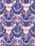Arco Violet Garland Vector Seamless Pattern de las rosas Imagenes de archivo